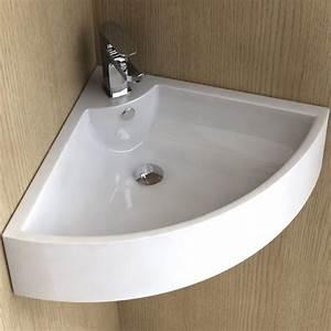 Lavabo D Angle Salle De Bain : lave mains d 39 angle 48 cm c ramique pure ~ Nature-et-papiers.com Idées de Décoration