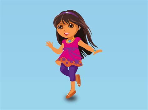 Dora Vector Cartoon
