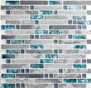 blue shell tile glass mosaic kitchen backsplash tiles
