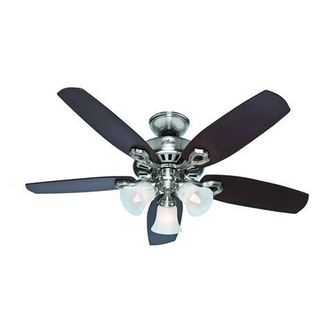 flush mount ceiling fans for small rooms shop builder small room 42 in brushed nickel