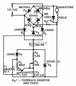 scr motor speed control circuit impremedianet With control circuit