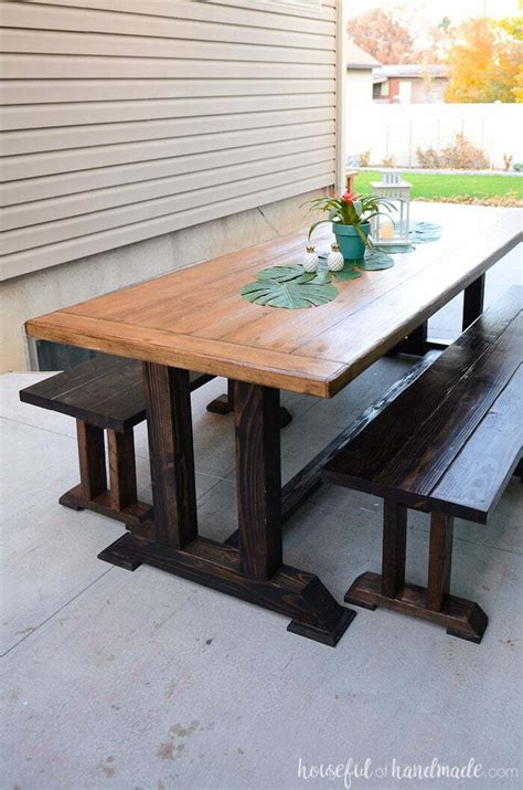 kitchen picnic table plans outdoor dining table plans houseful of handmade