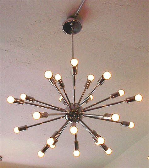 sputnik starburst light fixture chandelier lamp chrome