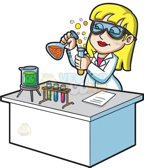 Scientist Clipart A Scientist Mixing Chemicals Clipart