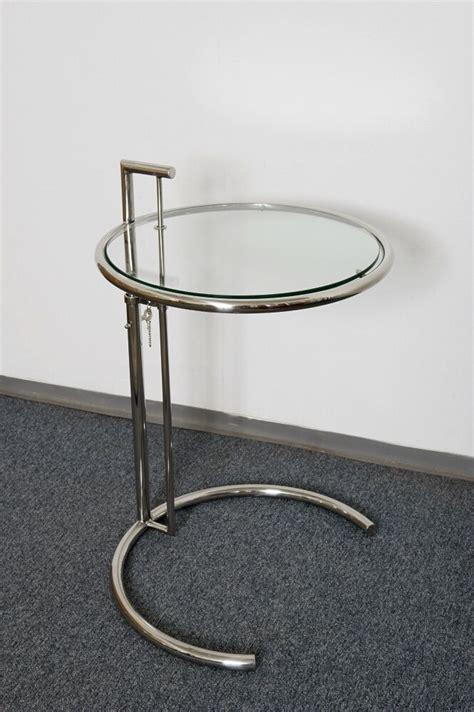designer beistelltisch glas designer tisch beistelltisch rund chrom glas stylish ebay