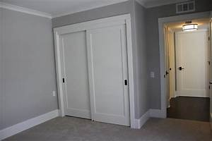Contemporary door knobs spaces traditional with closet for Closet door molding
