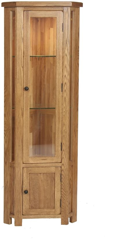 corner cabinet with glass doors custom unpolished birch wood tall corner display cabinet