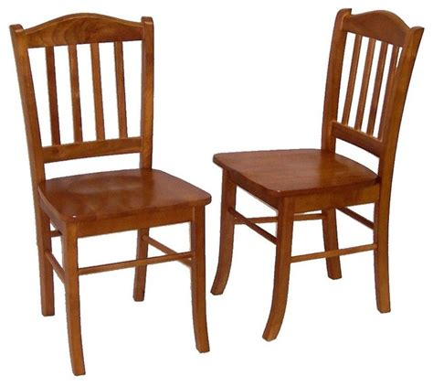 2 shaker style hardwood dining chairs w oak f craftsman
