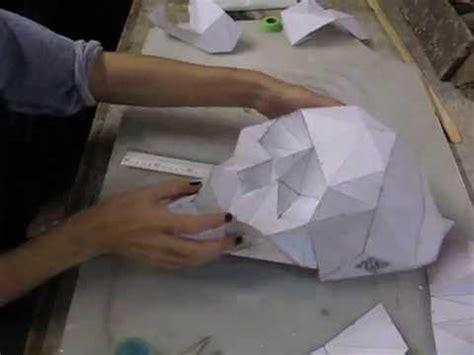 diy folding paper skull skullsforchange youtube