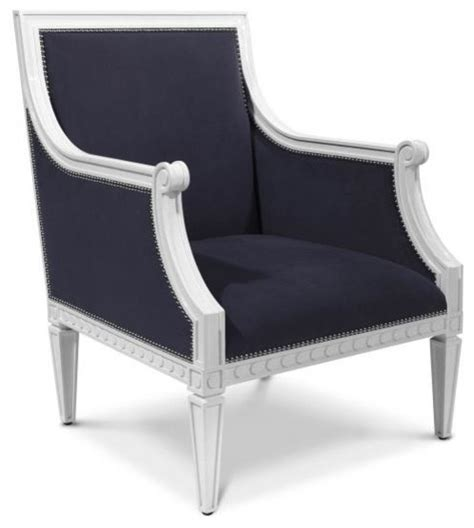 navy regent armchair modern armchairs and accent