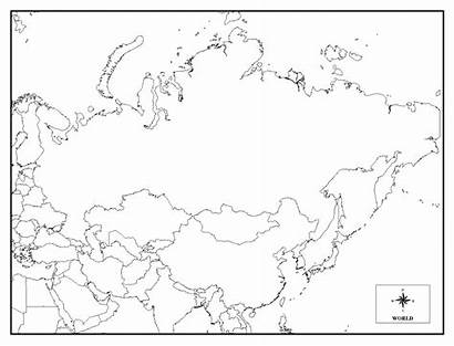 Russia Map Blank Coloring Outline Printable Regarding