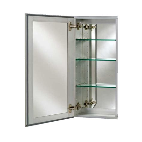 afina 24 quot broadway semi recess mirrored medicine cabinet