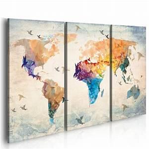 Tableau 5 Parties : 1000 id es sur le th me toiles des cartes du monde sur pinterest l 39 art de carte murale art de ~ Teatrodelosmanantiales.com Idées de Décoration