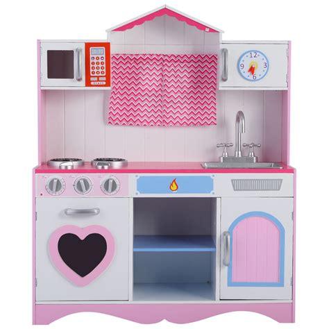 Wood Kitchen Toy Kids Cooking Pretend Play Set Toddler