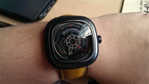 jam seven friday p 3 1 leather sold seven friday all black automatic leather 47mm