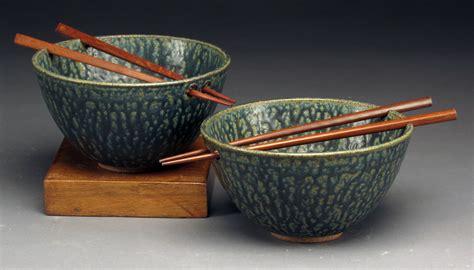 blue green rice bowls  chopsticks  daniel bennett