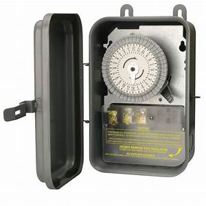 Woods 40 Amp 120-volt Spst 24-hour Outdoor Mechanical Time Switch-59101r