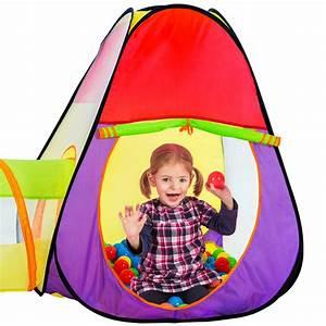 Kinderzelt Mit Bällen : kinderzelt zelt mit tunnel kinderzelt spielzelt b llebad ~ Watch28wear.com Haus und Dekorationen