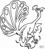 Coloring Peacock Peacocks Pages Printable Drawing Clipart Supercoloring Paper Categories sketch template