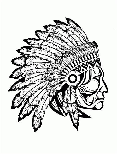 coloring page native americans az coloring pages