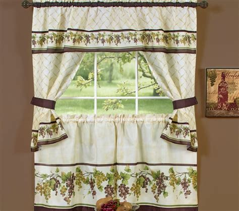 Grape Themed Kitchen Curtains by Wine Themed Kitchen Curtains Design And Ideas Decolover Net