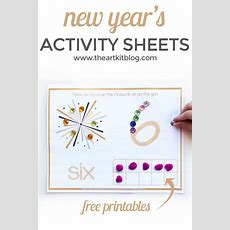 New Year's Free Printable Activity Sheets {number Practice}  The Art Kit