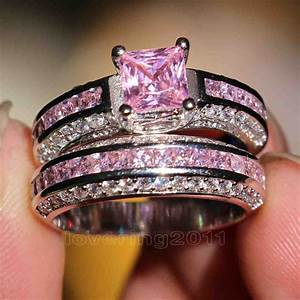 Pink princess cut diamond engagement rings wedding and for Princess cut pink diamond wedding rings