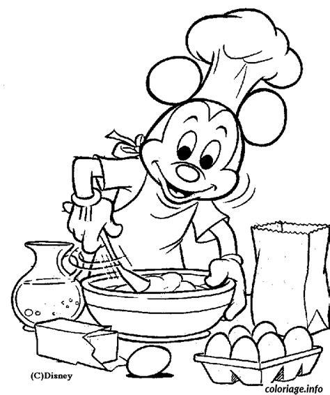 dessins de cuisine coloriage mickey cuisine dessin