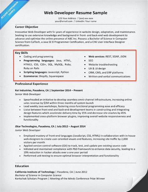 skills and experience example on resumes 20 skills for resumes examples included resume companion
