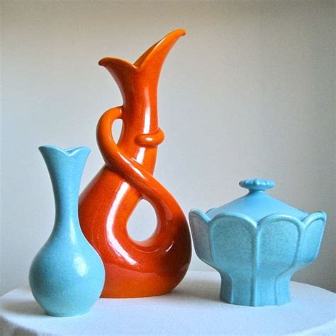 Orange Vases And Bowls by 91 Best Images About Vintage Pottery On Mixing
