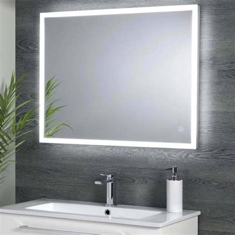 harbour glow led mirror  demister pad infrared touch