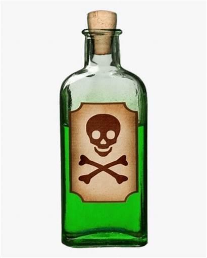 Poison Bottle Clip Label Zasady Clipart Poisonous