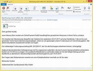 Rechnung Online Pay 24 : rechnung noch offen nr 28122631 von onlinepayment gmbh stellvertretender sachbearbeiter ~ Themetempest.com Abrechnung