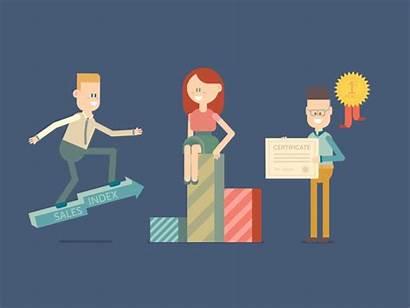 Business Sales Animated Digital Marketing Improving Dribbble