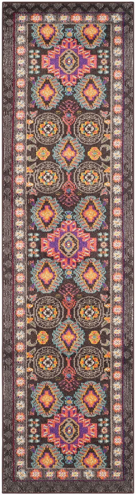 safavieh rug runners brown multi safavieh monaco polyproplene runner rug 2 2