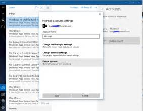 appSettings Windows Mail Account