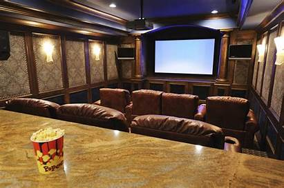 Theater Theatre Rooms Tv Wall Audio Bar
