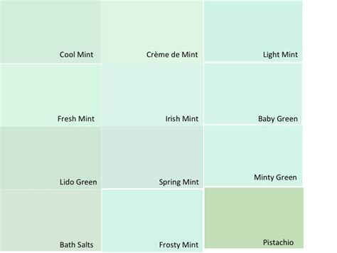 benjamin moore mint green paint swatches  created