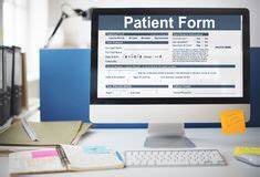 Medical information form stock photo. Image of health ...