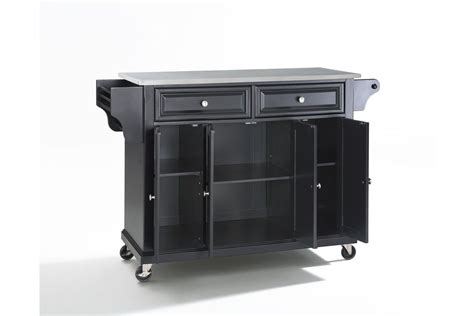 stainless steel top kitchen island stainless steel top kitchen cart island in black by crosley