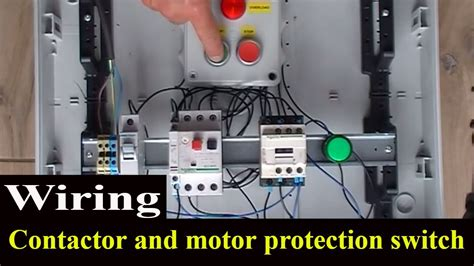 how to wire contactor and motor protection switch direct