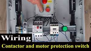 How To Wire Contactor And Motor Protection Switch - Direct On Line Starter