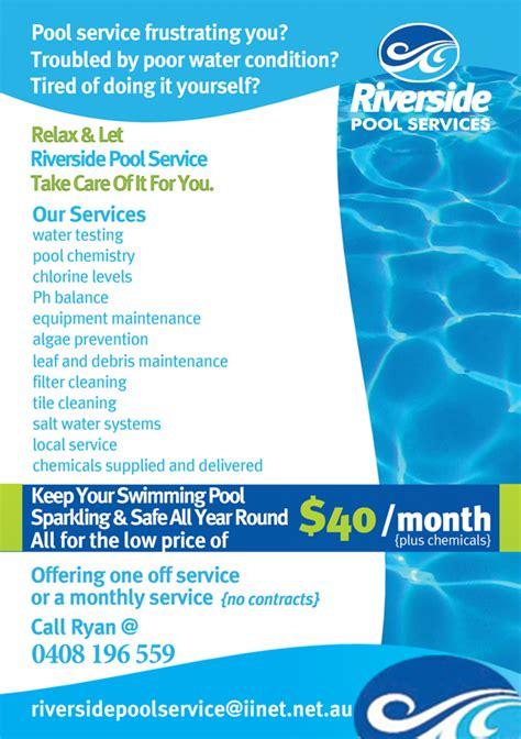 modern pool service flyer design   company