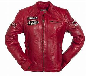 Blouson Moto Vintage Femme : blouson cuir femme warson motors grand prix rouge warson vestes blousons femme ~ Melissatoandfro.com Idées de Décoration