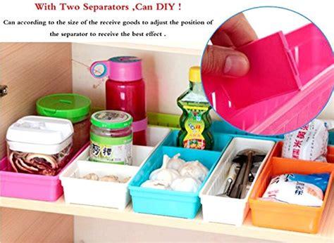 divisori cassetti cucina set di 4 contenitori portaoggetti creativi per cassetti