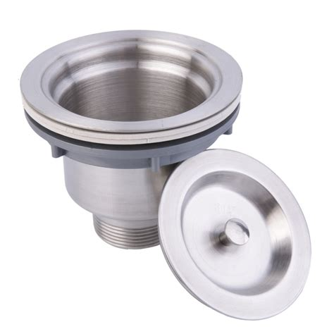 kitchen sink drain problems stainless steel kitchen sink drain assembly waste strainer 5741