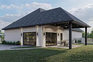 Plan, 62304dj, Poolhouse, And, Garage, All, In, One, In, 2021