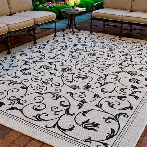 9 X 9 Outdoor Rug by Safavieh Courtyard Sand Black 9 Ft X 12 Ft Indoor