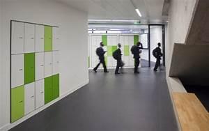 Interior Modern Stylist Locker Room Design With Green And