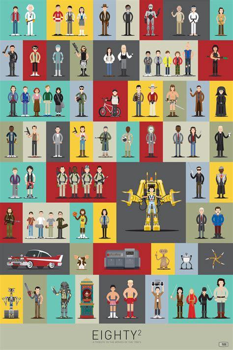 poster  iconic   characters geekologie